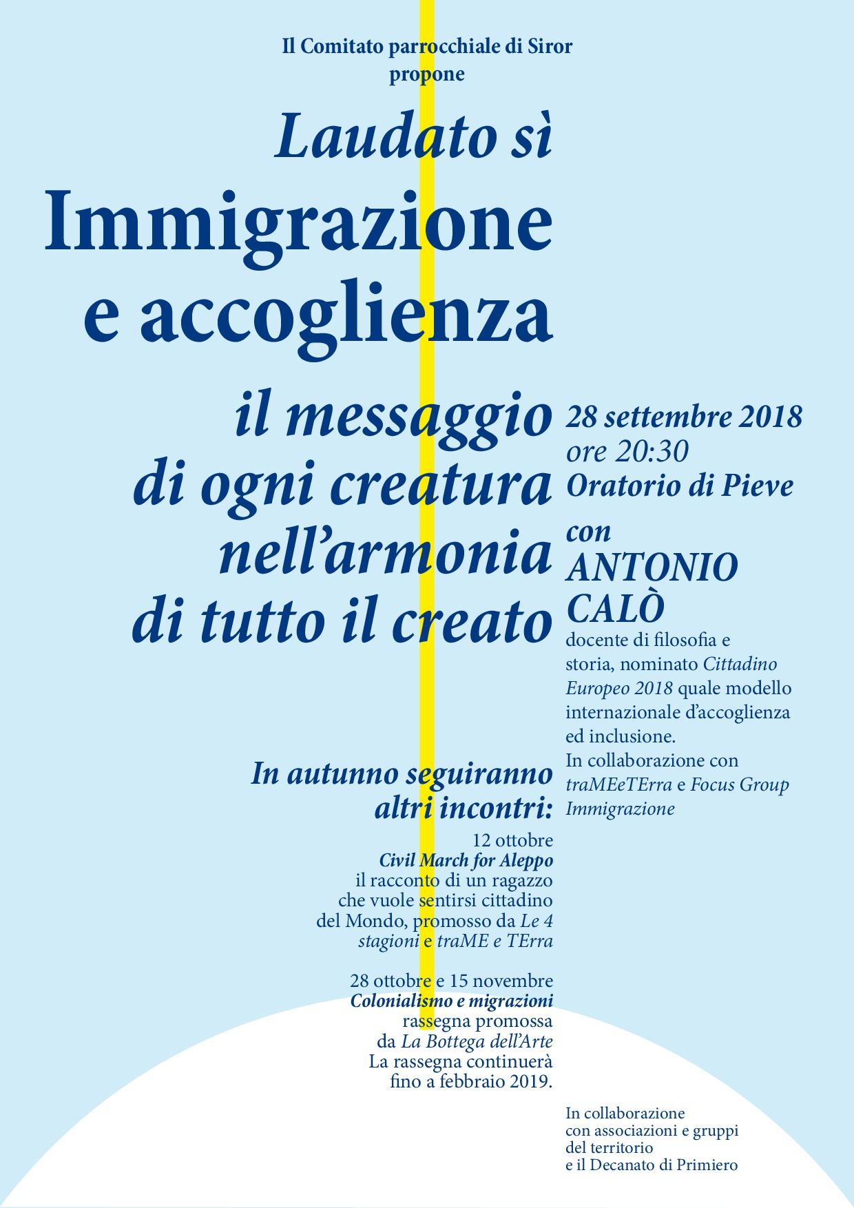 Laudato sì Migranti 28.09.2018