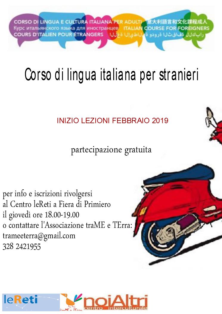 locandina corso italiano_febbraio 2019